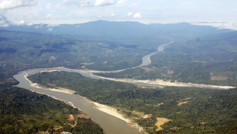 Image: The Irrawaddy River runs through Kachin State, northern Myanmar