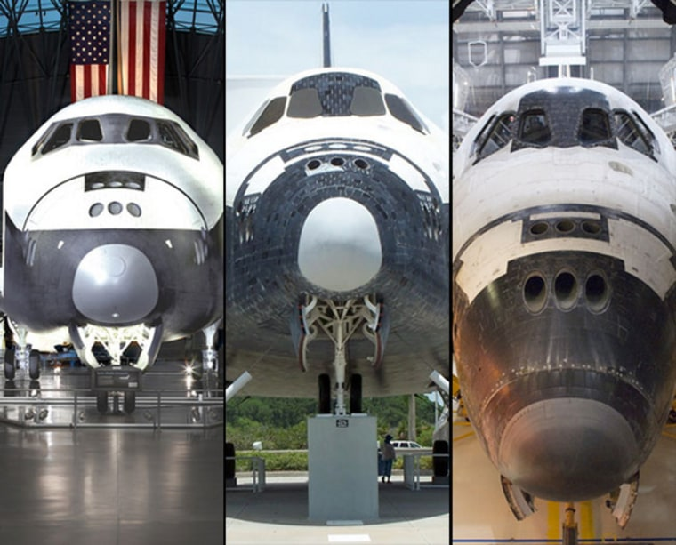 Image: Composite photo, space shuttles