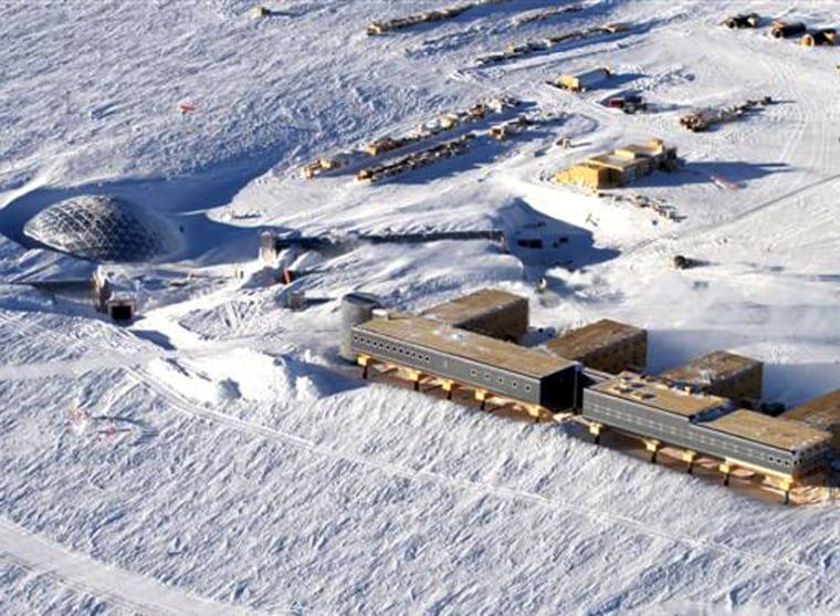 The South Pole Station in Antarctica, where an over-wintering worker is seeking evacuation for medical reasons. Her request has been turned down.