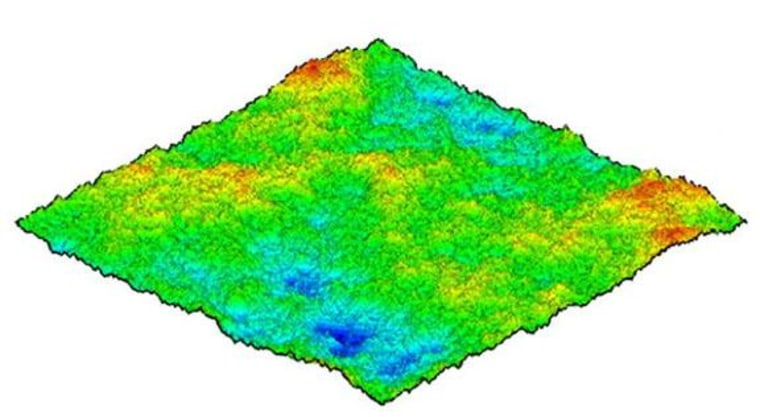 Image: Computer-simulated topography