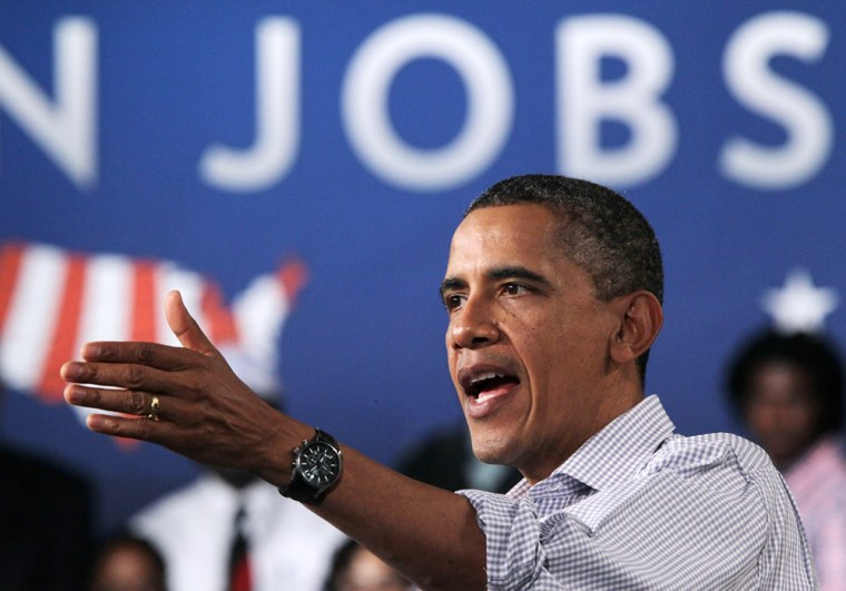 Image: President Obama Speaks At Virgina High School During His 3-Day Bus Tour