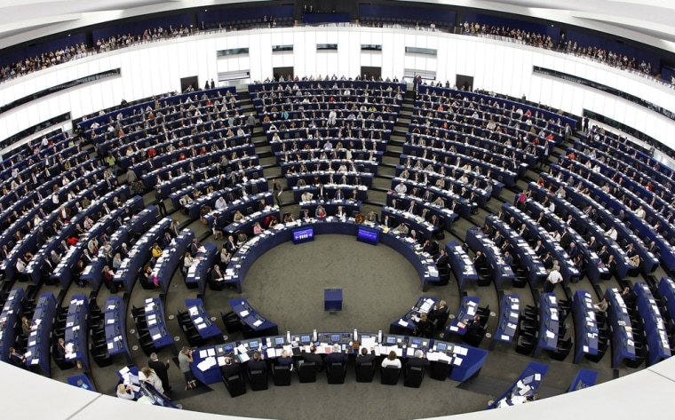 Image: Members of the European Parliament attend a voting session at in Strasbourg