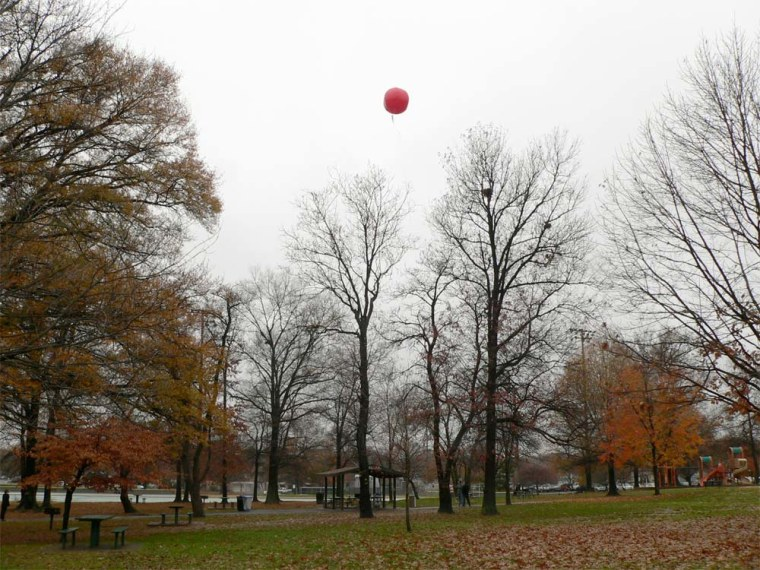 Ten red weather balloons were each placed in a location within the United States, with each team challenged to find all the balloons quickest.