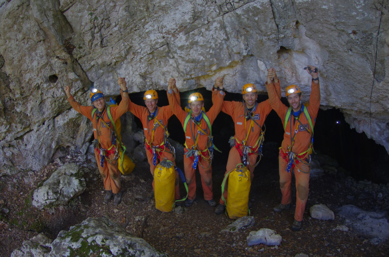 An international team of five astronauts re-emerged on Sept. 21 after living in a cave for six days as part of an elaborate training exercise that simulated a space mission.