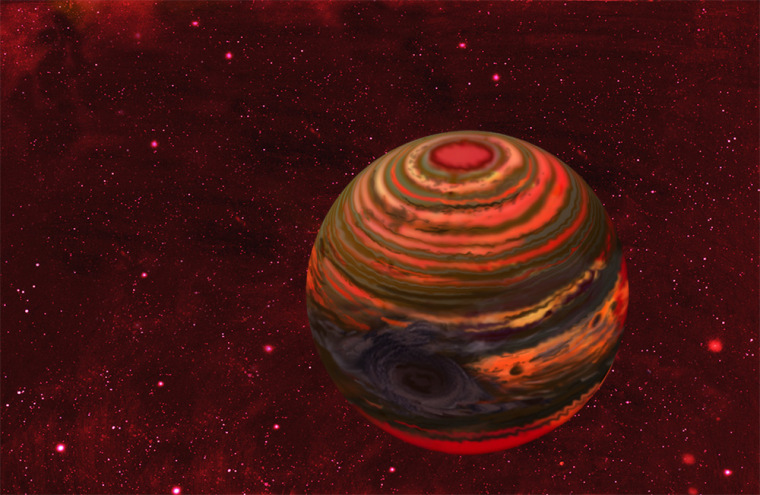 Extreme brightness changes observed on a nearby tiny brown dwarf star may indicate a storm grander than any yet seen on an alien world, scientists say.