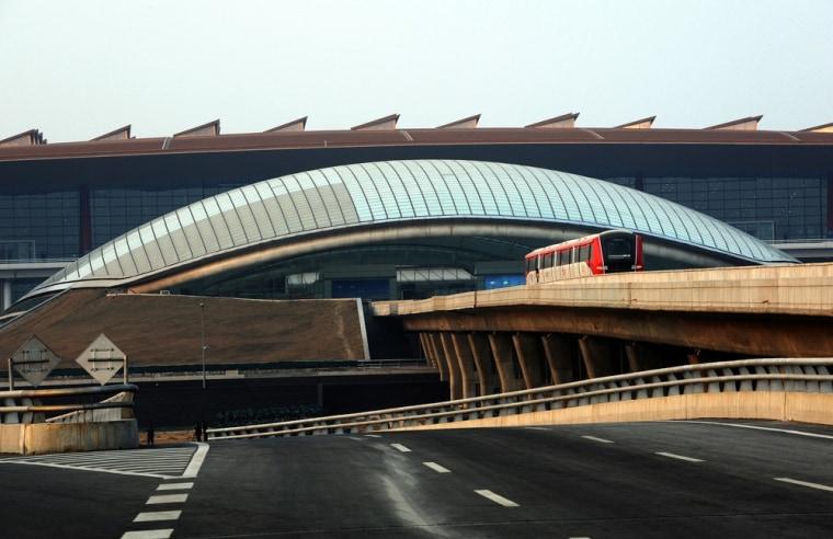 Image: Terminal 2 at Beijing Capital International Airport in 2008