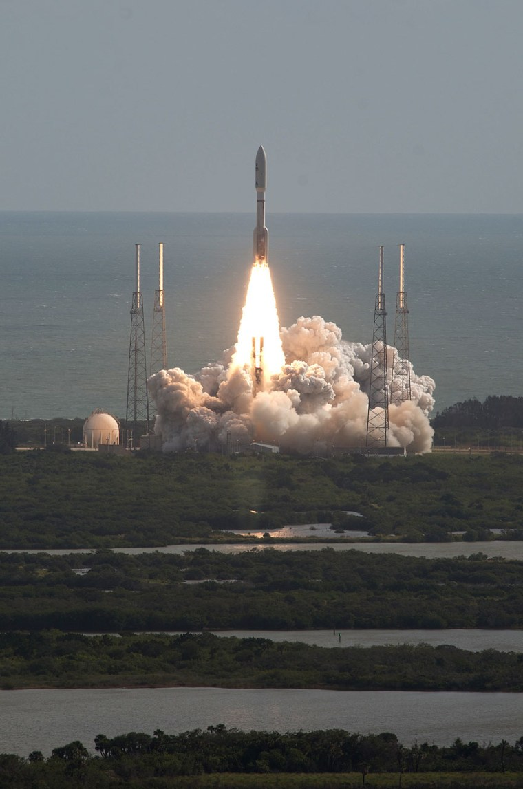 NASA's Mars Science Laboratory with its Curiosity rover lifts off atop a United Launch Alliance Atlas V rocket on Saturday from Launch Complex 41 at Cape Canaveral Air Force Station, Fla.