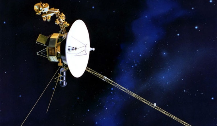 Voyager 1and its twin were launched in 1977 to explore our solar system's giant planets and to study the electrically charged solar wind streaming from the sun.
