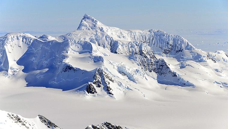 Antarctica's Alexander Island mountain range, snapped during a NASA research flight in October 2011.