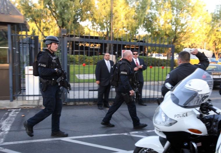Image: Scene of shooting in Irwindale, Calif.
