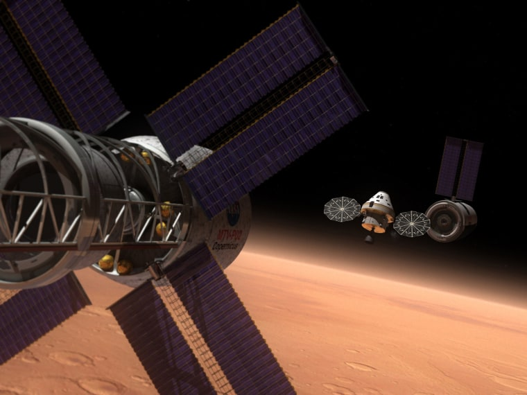 Image: Orion and exploration vehicle