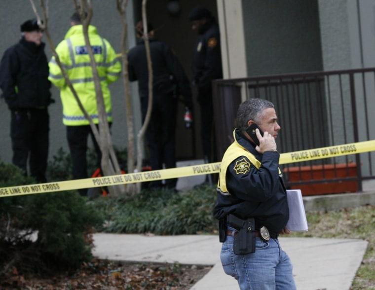 Image: Scene of shooting outside Dallas