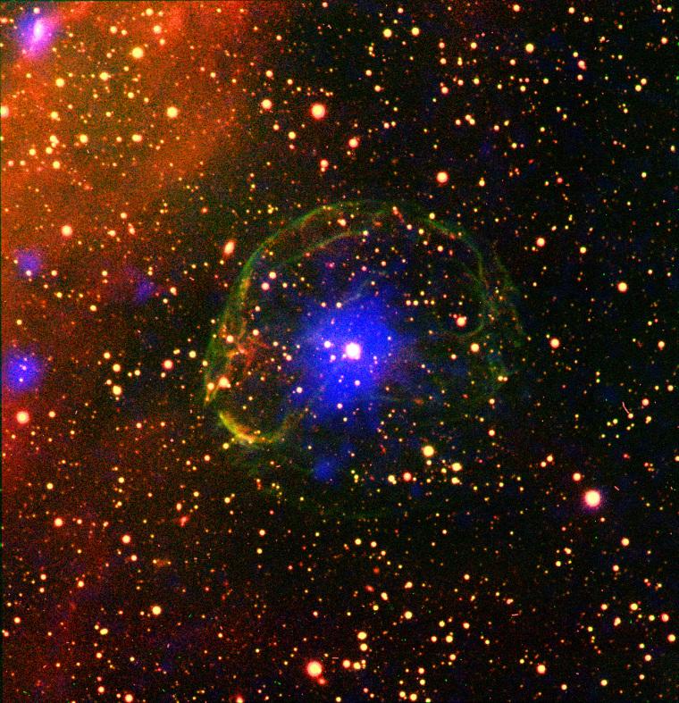Image: Slow-spinning X-ray pulsar SXP 1062