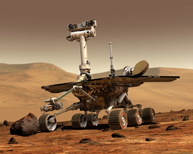 NASA's twin Mars rovers, Spirit and Opportunity, are marking the passage of a big milestone — eight years on the surface of Mars.