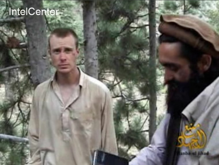 Image: Bowe Bergdahl (L), who has been held hostage by the Taliban since his disappearance from his unit on June 30, 2009