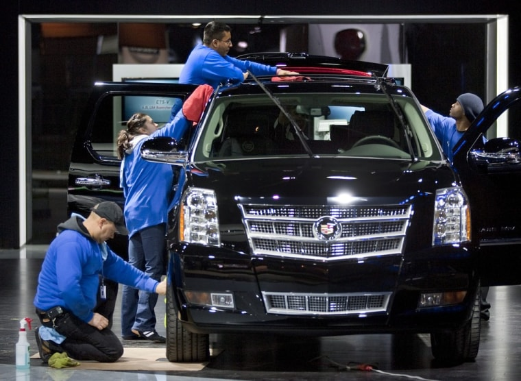 Image: Preparations for North American International Auto Show
