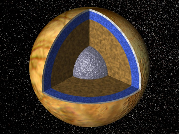 Jupiter's moon, Europa, is thought to hide an ocean beneath an icy layer. This liquid ocean bears striking similarities to lakes buried beneath the Antarctic ice.