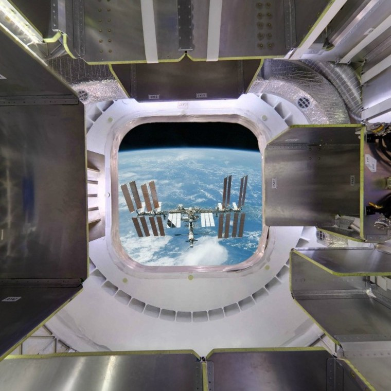 Image: Panorama from SpaceX Dragon