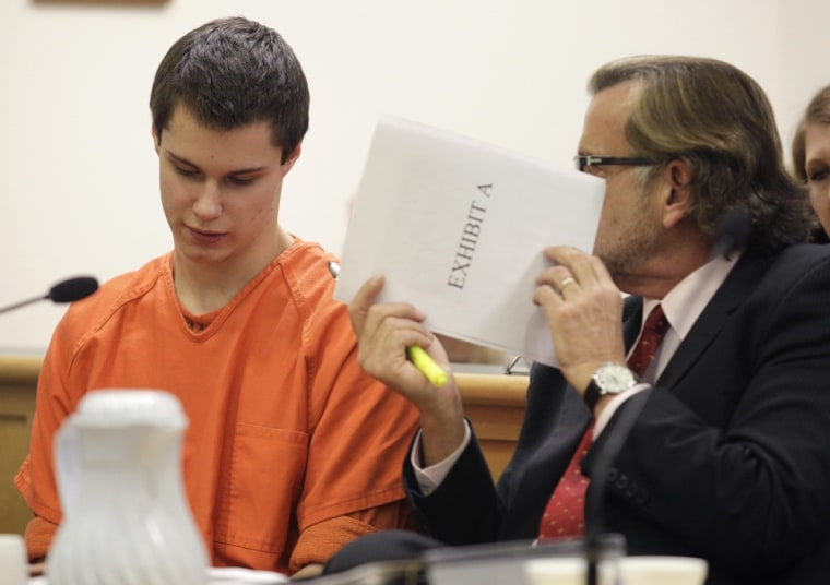 Image: Attorney Colton Harris-Moore and attorney John Henry Browne