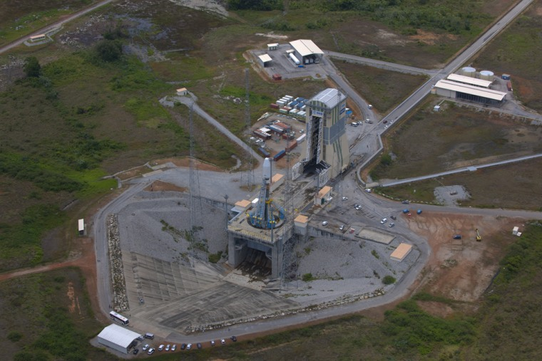 The Soyuz launch site at Europe's spaceport near Kourou, in French Guiana.