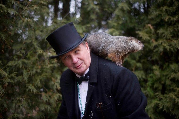 Image: Groundhog Day in Punxsutawney Pennsylvania