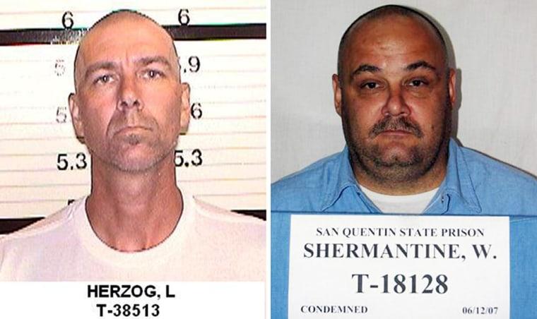 "Loren Joseph Herzog (left) and Wesley Shermantine (right). Shermantine and Loren Herzog were dubbed the \""Speed Freak Killers\""."