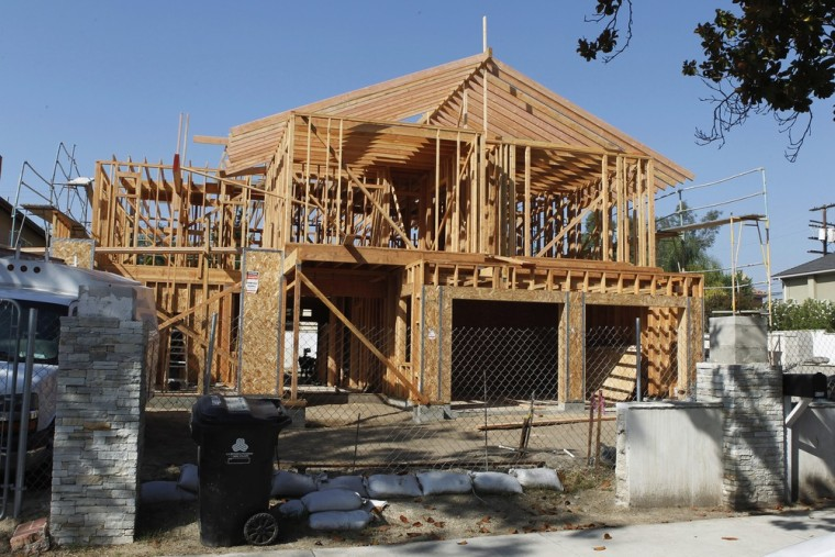 Image: File photo of the framework for a single family home currently under construction in Los Angeles