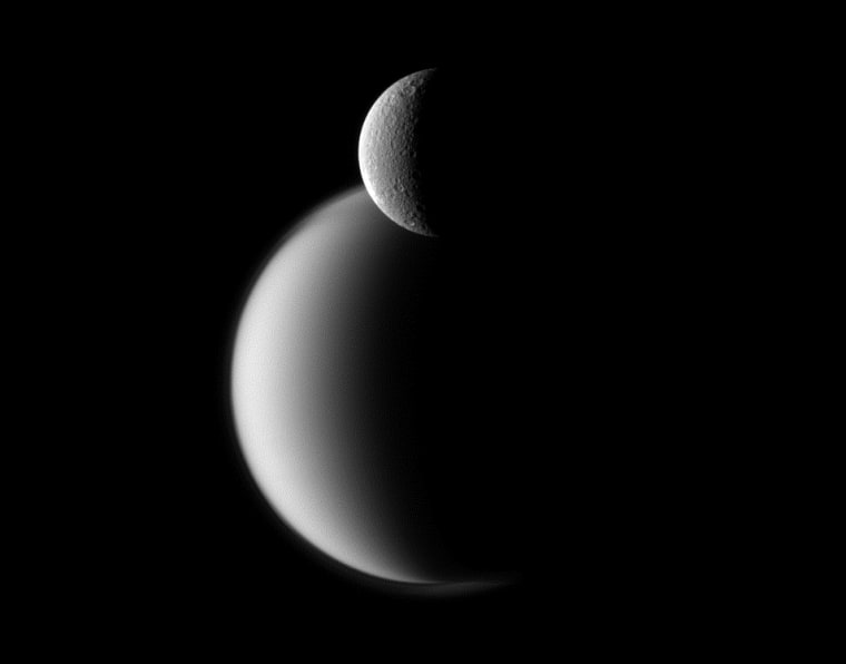 Image: Rhea and Titan