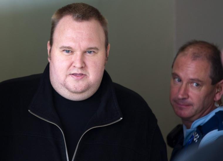 Image: Megaupload founder Kim Doctom released on bail