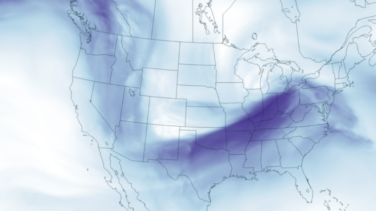 Image: Map of United States showing wind speed