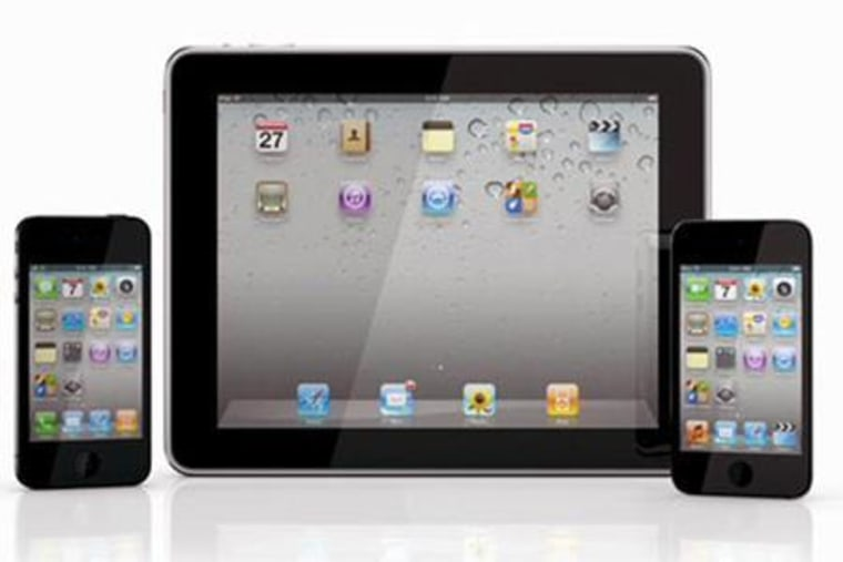 Apple's iPod Touch, iPad and iPhone 4.