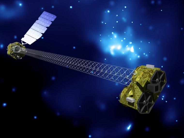 Image: Artist's concept of NuSTAR on orbit.