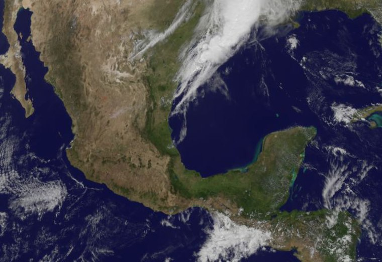 Image: Satellite photo of Mexico March 20, 2012