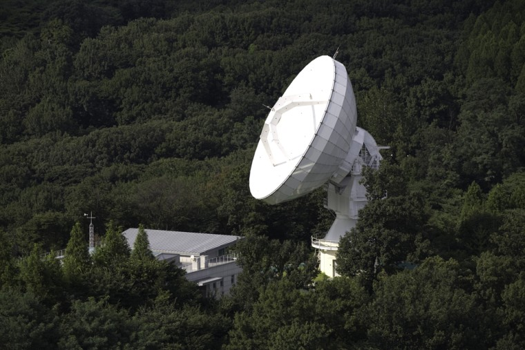 Researchers linked this radio telescope in Seoul, South Korea, with another Korean scope and three dishes in Australia to create a system that functions as a 5,000-mile-wide telescope.