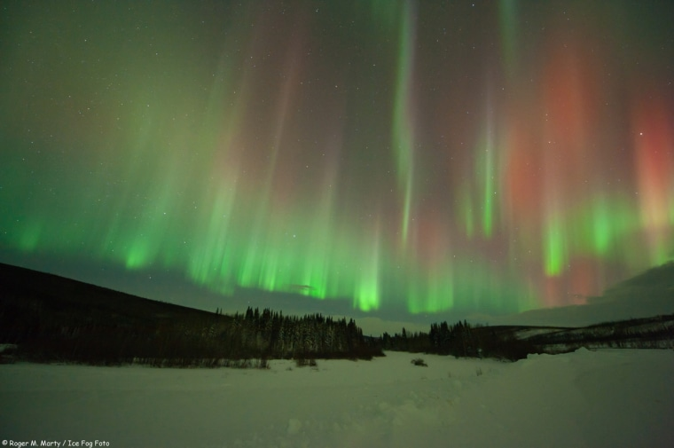 Astrophotographer Roger M. Marty snapped the aurora north of Poker Flats, Alaska, onJan. 22.