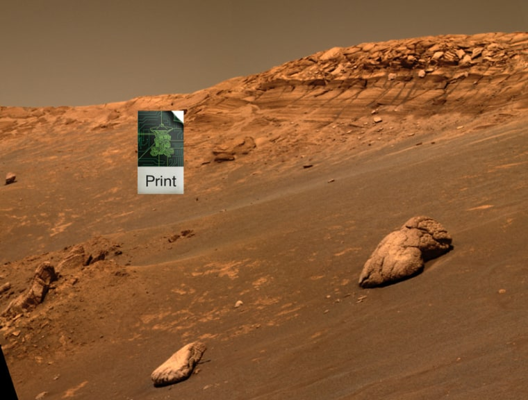In the far future, scientists may be able to fly 3-D printers to, say, Mars (shown here), and print out spacecraft.