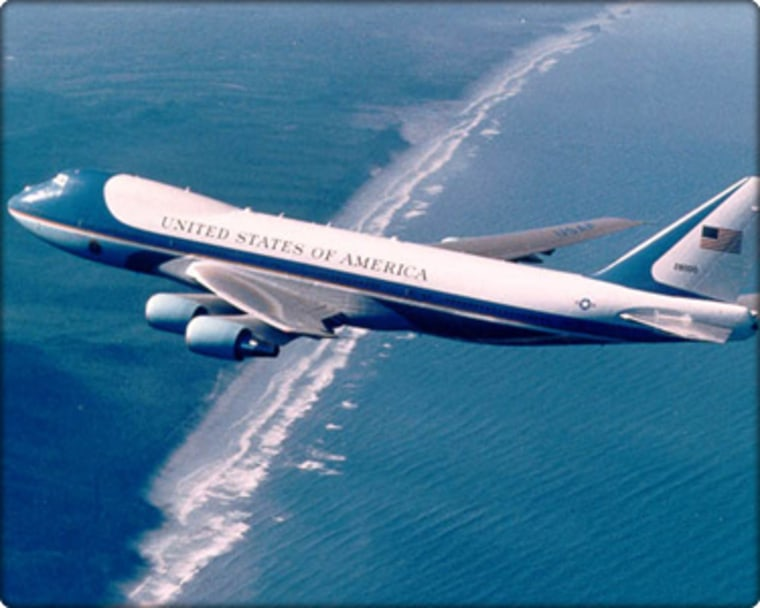 The current Air Force One is a Boeing 747-200B that has been modified to meet presidential requirements.