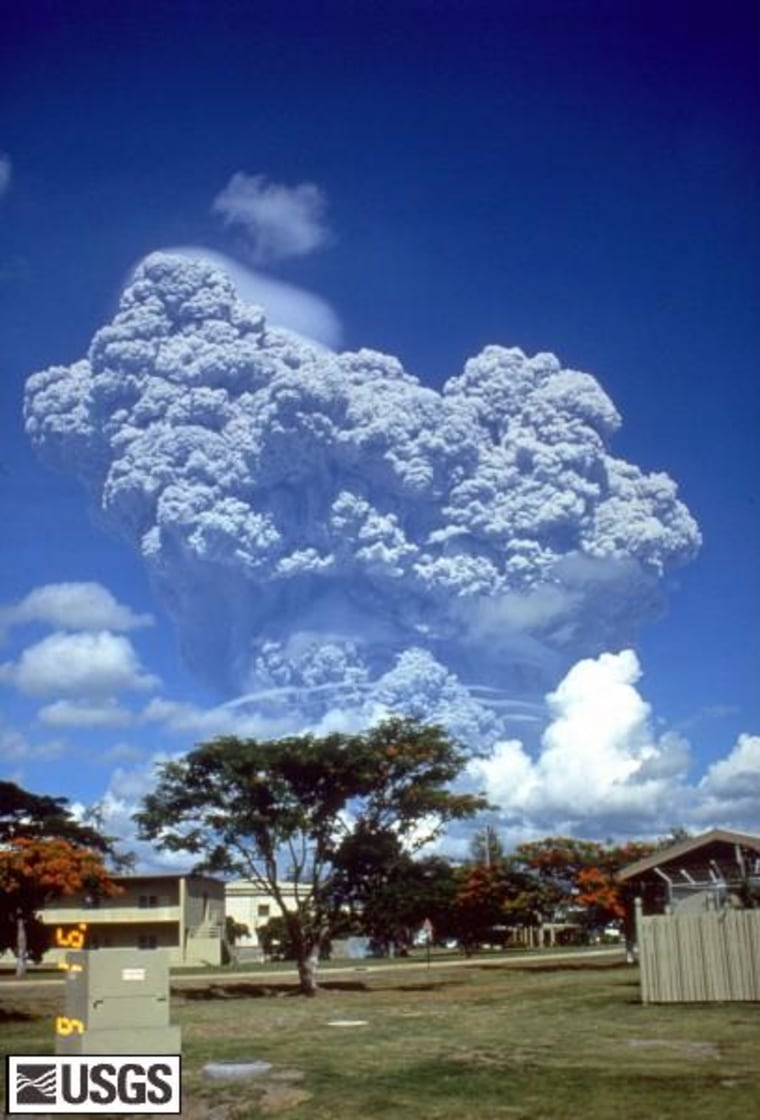 The eruption of Indonesia's Mount Pinatubo in 1991.