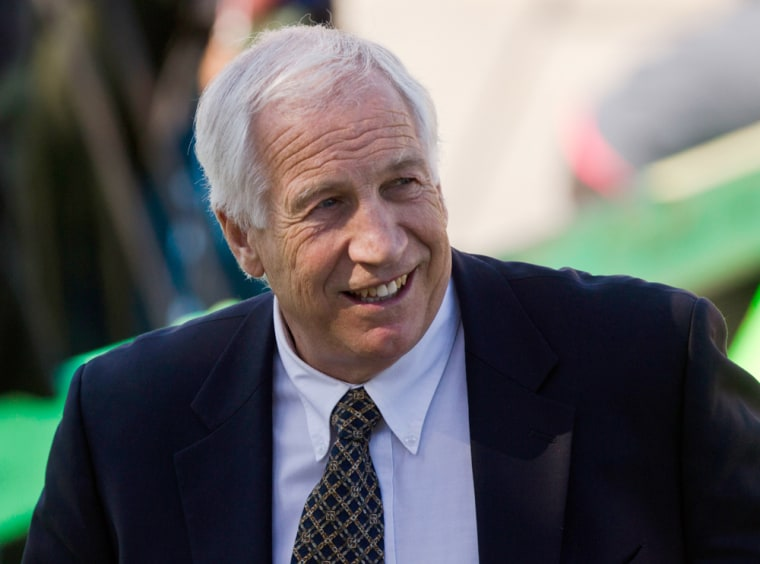 Image: Jerry Sandusky, a former Penn State assistant football coach charged with sexually abusing boys in Bellefonte, Pa., April 5, 2012.
