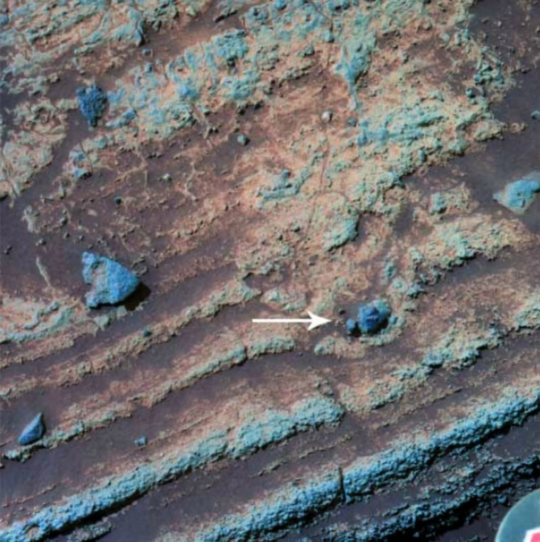 "Image: Ancient ""bomb sag"" crater on Mars"