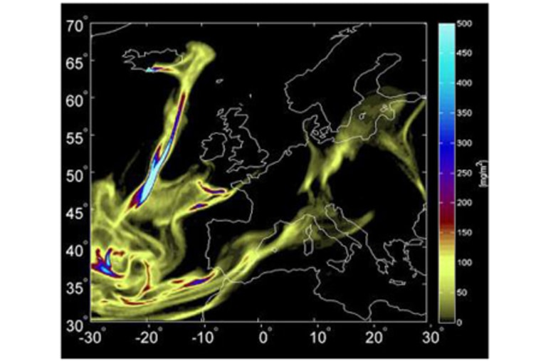 New models aim to predict the evolution of volcanic ash clouds, such as the one emitted by the eruption of Eyjafjallajokull.