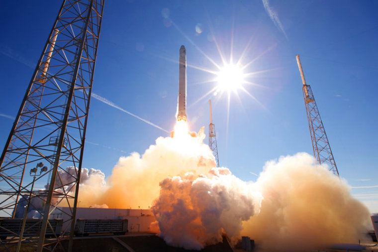 SpaceX's Dragon will lift off from the Cape Canaveral Air Force Station in Florida. Here, the capsule launches atop a Falcon 9 rocket on its first ever flight test in December 2010.