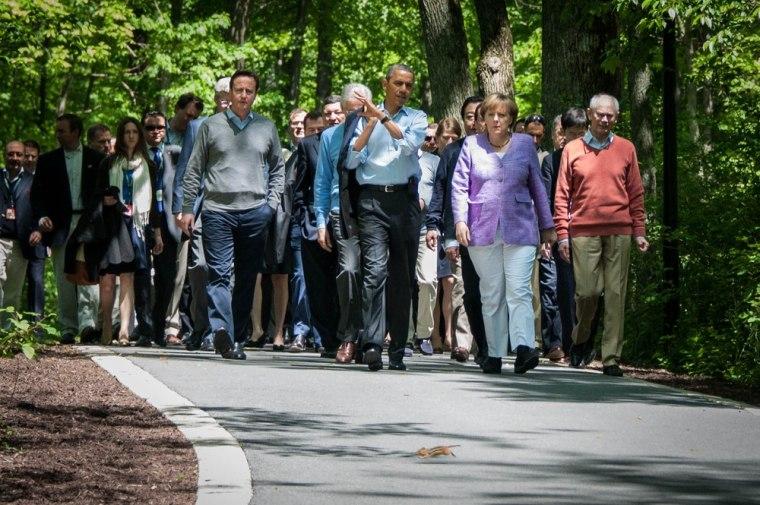 Image: G8 conference at Camp David