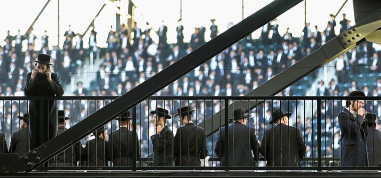 Image: Ultra-Orthodox Jewish Community Holds Anti-Internet Rally