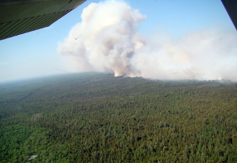 Image: Michigan wildfire