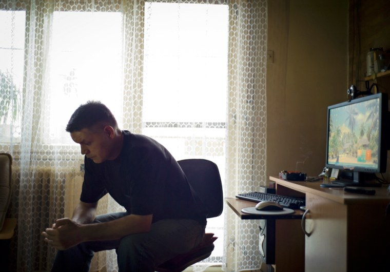 Image: Pavle Mircov, who has advertised a kidney for sale online after losing his job, in Kovin, Serbia