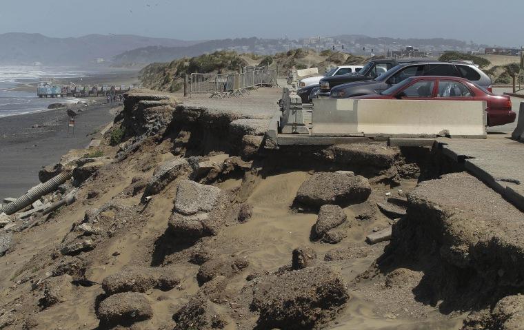 Image: Coastal erosion