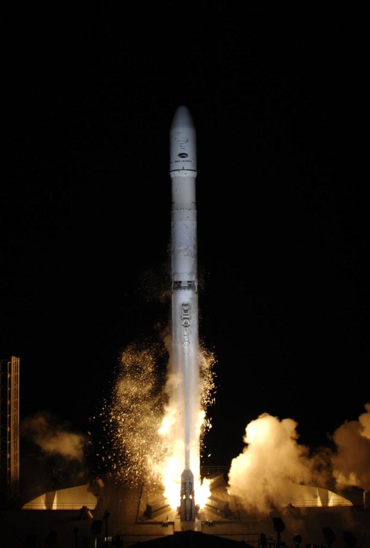 A Sea Launch AG rocket launches the Intelsat 19 satellite.