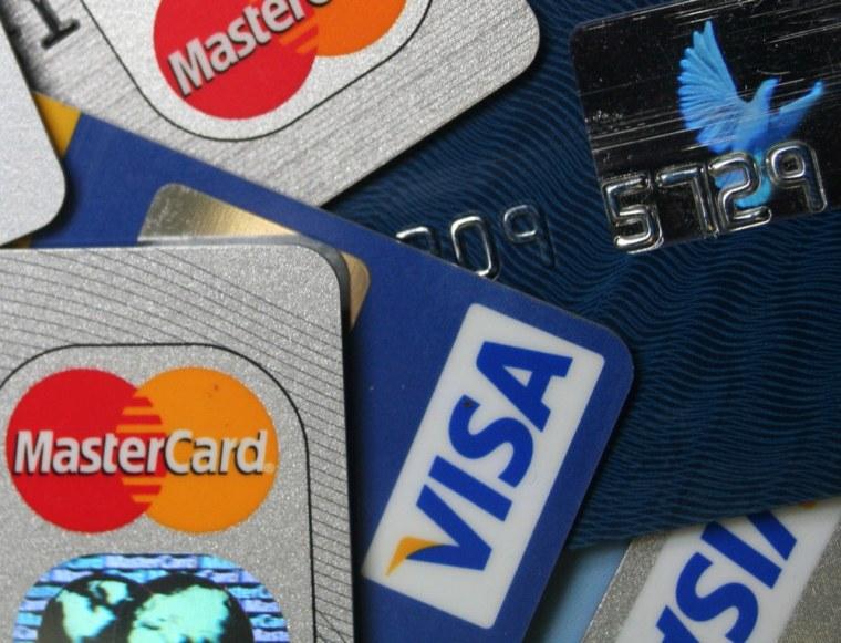 Image: MasterCard and VISA credit cards