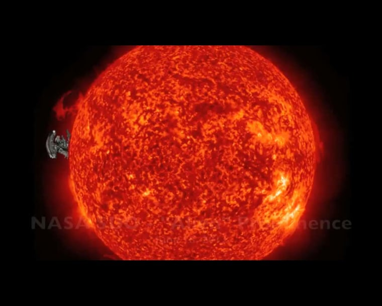 """The extraterrestrial from the movie """"Alien"""" is superimposed on the sun to show its similarity to the shape of a solar prominence that was seen on June 18 by NASA's Solar Dynamics Observatory."""